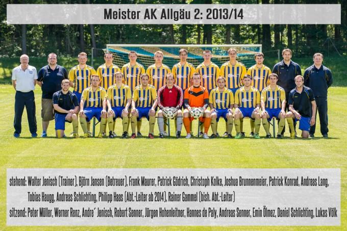 Meister AK Allgäu 2: 2013/14
